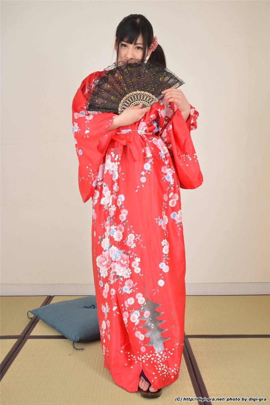 日本女优川美優香和服写真(50张)