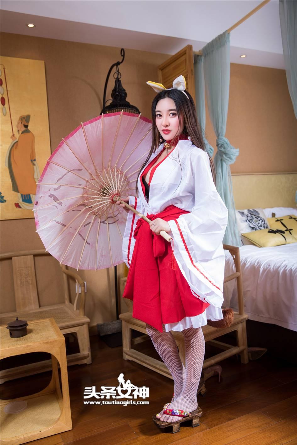 性感美乳兔女郎李梓熙和服白丝诱惑(28张)