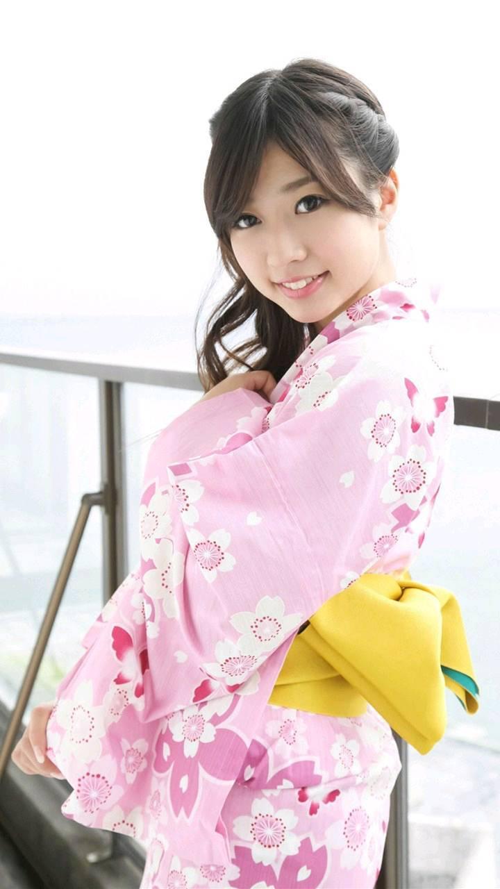 大贯彩香日式和服写真壁纸(5张)